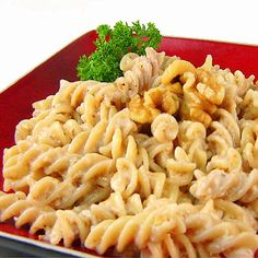Fusilli with Walnuts and Garlic Sauce ~T~ This is simply delicious.