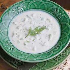 Cucumber Potato Soup Recipe