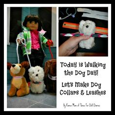 How to make dog collar and leash set for doll pets