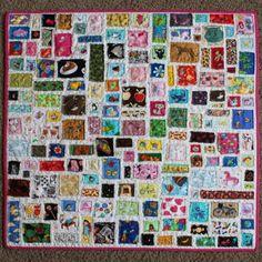 i-Spy quilt. Start saving scraps!!
