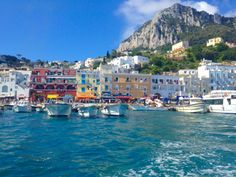 The beautiful town of Capri, Italy is a popular cruise destination.