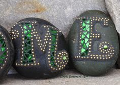 7 Stones Spell Welcome Mosaic Stones by ChrisEmmertMosaic on Etsy