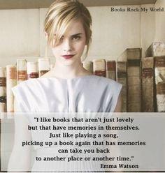 Emma Watson on books