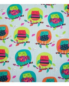 Novelty quilt fabric-owls on branches from Jo-Ann