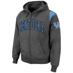 Kentucky Wildcats Triumph Full Zip Hoodie - Charcoal