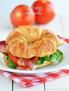 BLT Ranch Croissants