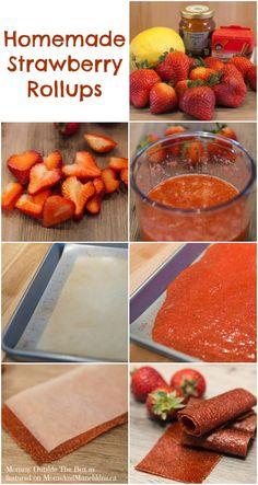 homemade recipe, strawberri rollup