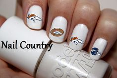 50pc Denver Broncos Football Nail Decals Nail Art Nail Stickers Best Price NC274