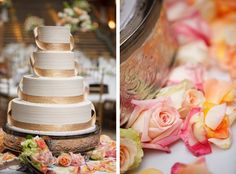 Simply Elegant Wedding Cake #weddingcake