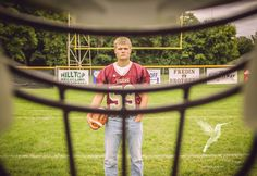 Senior guy photography football