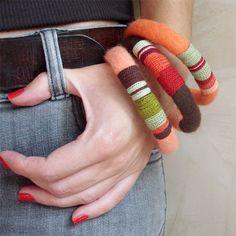 Handmade textile jewelry — Try Handmade