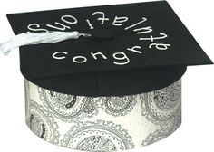 Card Box Craft for your Grad!  Can be changed up using school colors!!!  Love it!