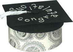 gift boxes, graduation crafts, graduation gifts, grad card box, graduat gift