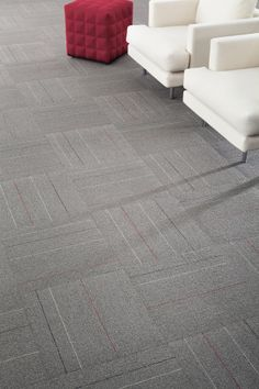 Neutral and graphic or fast and furious with a splash of color, Milliken's Walk the Line collection strikes a balance of vivid accents and asphalt-like backgrounds, which are sure to inspire the journey ahead.