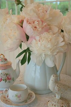 Stylowo tea time, rose, tea parti, garden peoni, shabby chic, afternoon tea, pretti, peonies, flower