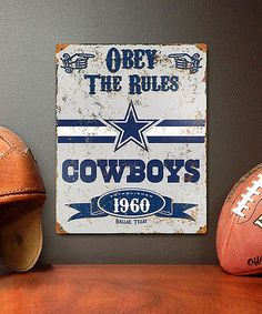 Dallas Cowboys Vintage Metal Sign by Party Animal on #zulily