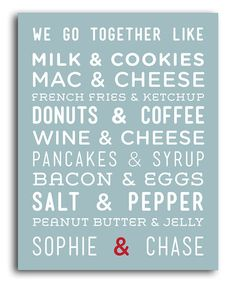 Take a look at this 'We Go Together' Personalized Print by Heart of the Home on #zulily today!