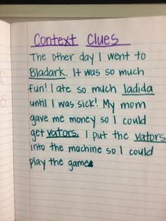 teaching context clues