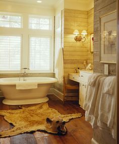 Minus the large, obstructive and dangerous bear head, I love this bathroom :)