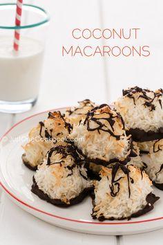 Easy Coconut Macaroons | JustOneCookbook.com