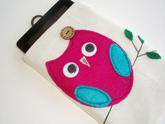 Owl Kindle Sleeve, Kindle fire sleeve cover, nook cover, Google nexus 7 case