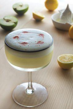 Pisco Apple Sour Cocktail