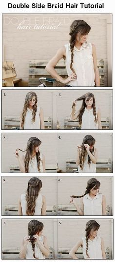 DIY : Double Side Braid Hairstyle | DIY & Crafts Tutorials
