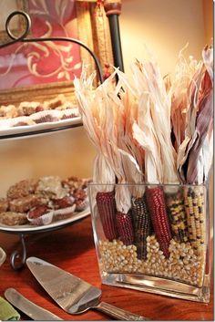 fall decor, indian corn, fall corn, corn display, fall idea