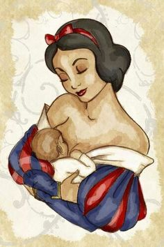 Snow white breastfeeding! This is too cool