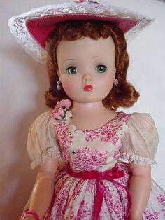 Madame Alexander Hard Plastic Used Cissy Doll in RARE Rose Print Dress | eBay