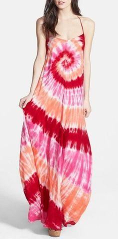 Love! Tie Dye Maxi Dress