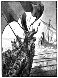 Viking Longships at War