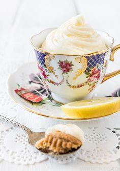 Black Tea Cupcakes with Lemon Icing