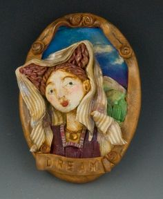 Uncommon Creations on Etsy made this charming renaissance inspired portrait brooch. $28