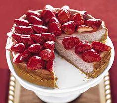Strawberry-Strawberry Cheesecake strawberry cakes, sweet, cheesecakes, food, strawberries, popular pins, cheesecake recipes, strawberrystrawberri cheesecak, dessert