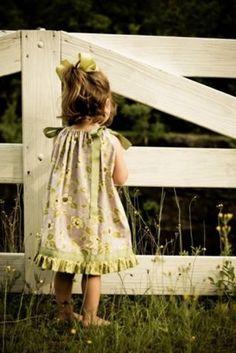 Make an easy pillowcase dress for your little girl.