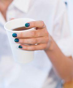 blue nails