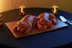 "Weenie dog ""dachshund"" grooms cake by Lisa's Creative Cakes.  Photo by Kayleigh Dawn Photography.  Fort Worth, TX"