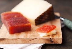 Membrillo! A Spanish quince paste that is eaten with Manchego cheese. Yum!