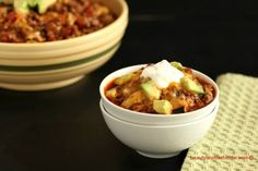 Easy Chili Faux Mac