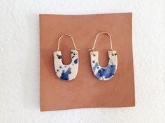 Martina Thornhill Ceramic Splatter Earrings.