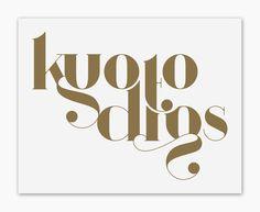 ARGÖ (font) by Anthony James, via Behance