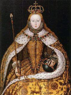 Elizabeth I at her coronation