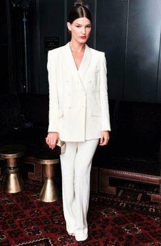 Hanneli M in all white