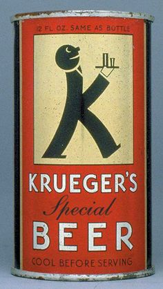 "Krueger's Special Beer ""K"" man flat top can"