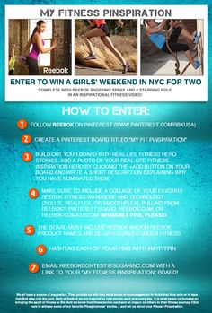 Create Your Fitness Pinspiration Board For the Chance to Win!