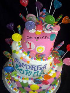 color candi, candi land, birthdays, candy land birthday, candyland cake, charact cake, parti idea, 5 year old birthday cake, birthday cakes