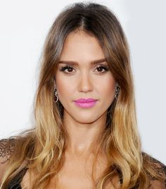 Click to shop Jessica Alba's exact lipstick M.A.C.'s Candy Yum-Yum $15