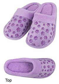 Purple Paw Comfort Slippers at The Animal Rescue Site