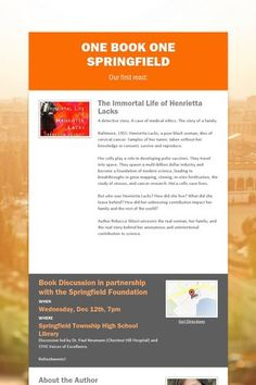 One Book One Springfield - The Immortal Life of Henriette Lacks